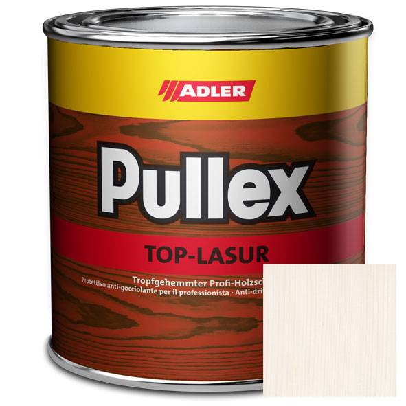 Wood glaze Pullex Top-Lasur, exterior use, chalky white