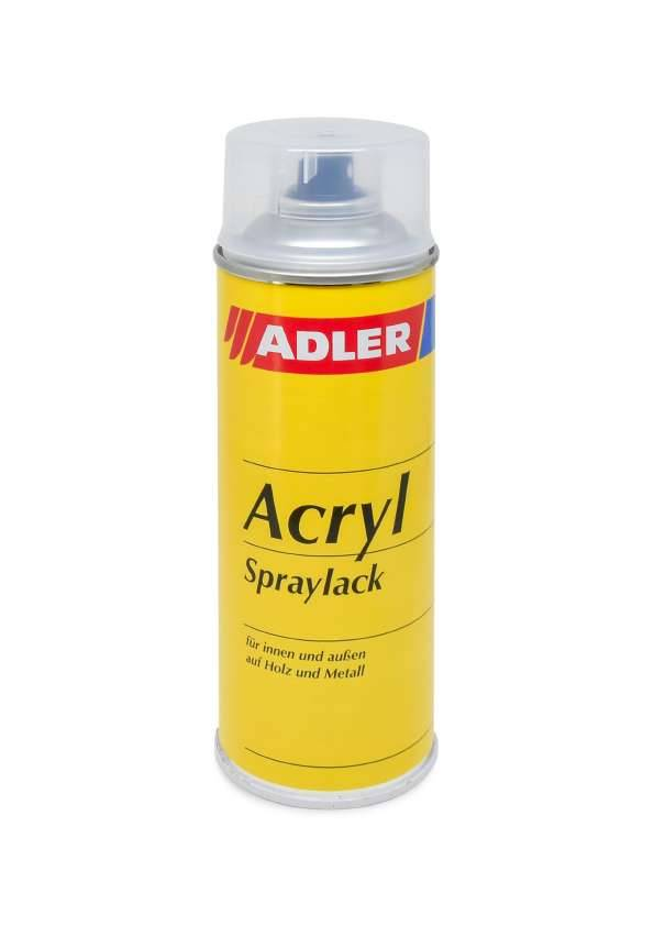 Spray paint White silk-matt 400ml, ADLER Acryl-Spraylack