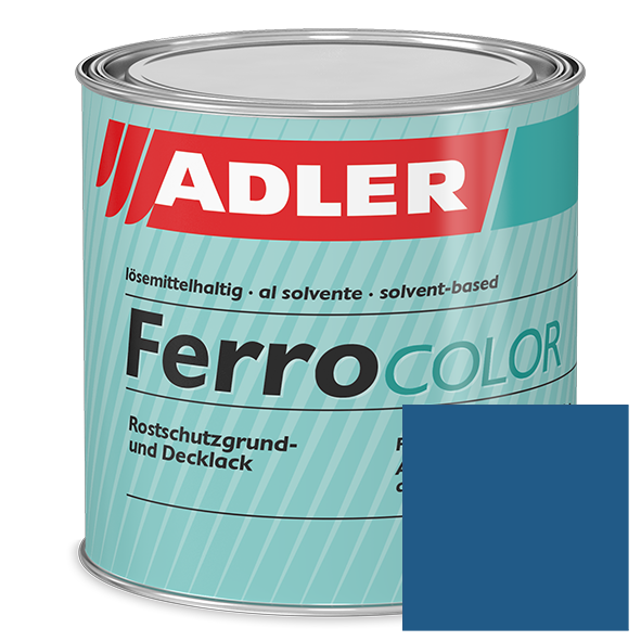 Metal coating RAL 5010 Gentian Blue, Ferrocolor