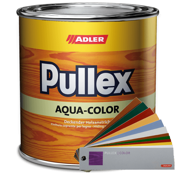 Weatherproof varnish Pullex Aqua-Color, exterior use on wood, many colours available