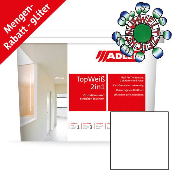 High quality interior paint with primer function Aviva Top-Weiß 2in1