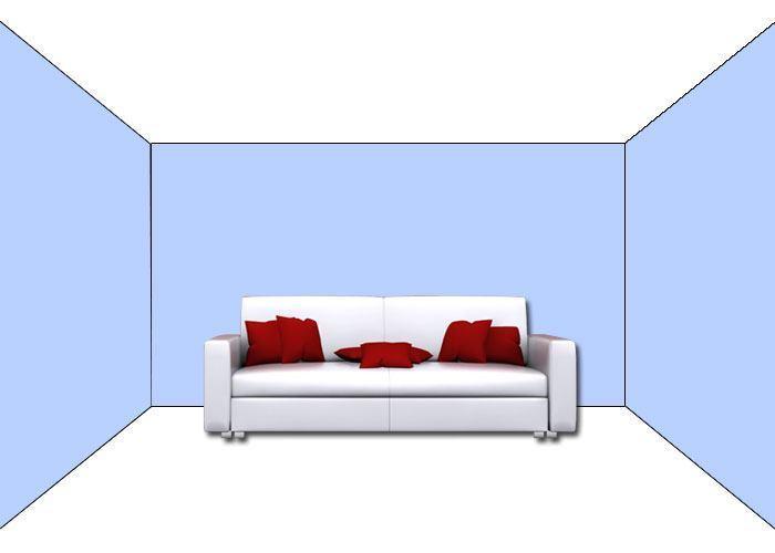 Prostorový efekt - jak barvy vizuálně tvarují místnosti