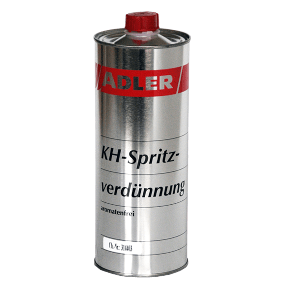 Spray thinner for synthetic resin