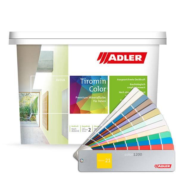 Aviva Tiromin-Color, hluboce matná minerální interiérová barva v pastelových odstínech