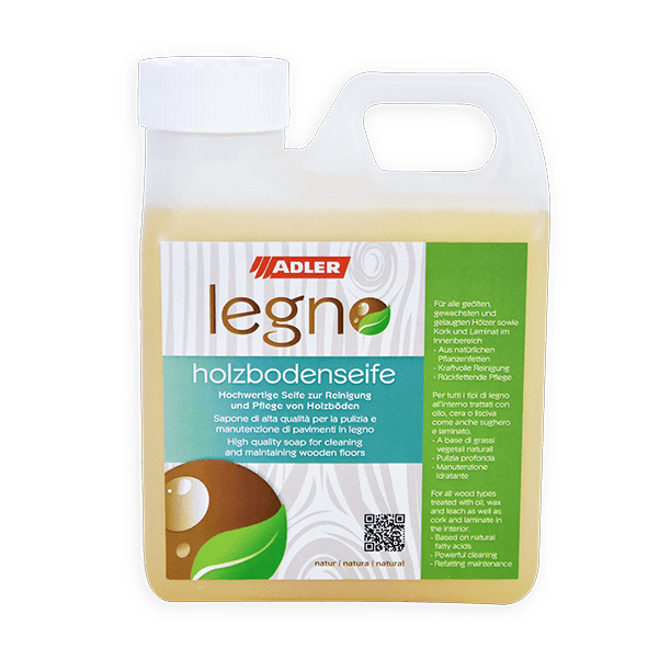 Legno-Holzbodenseife (Treating concentrate for wooden floors)