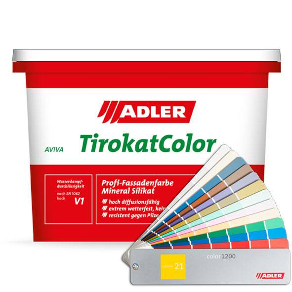 Aviva Tirokat Color, mineral silicate façade paint