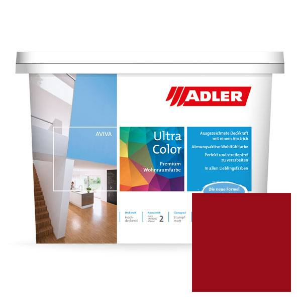 Premium wall paint Aviva Ultra-Color Red, red wine C12-008-3