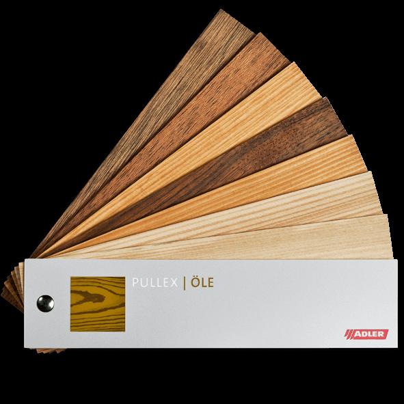 Vzorník olejů na dřevo Pullex