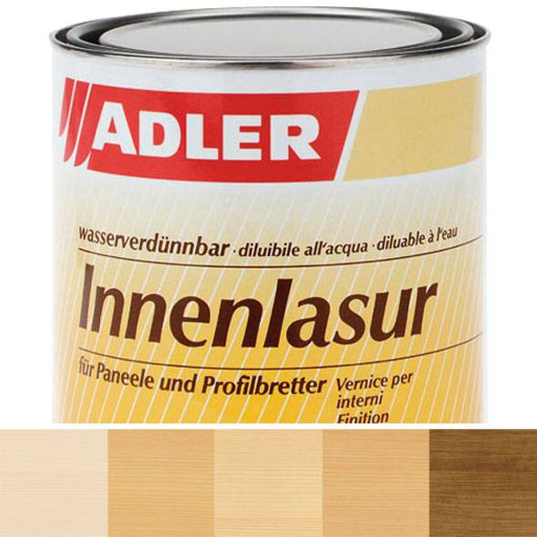 Interior glaze finish, in decorative wood and colour shades, Innenlasur