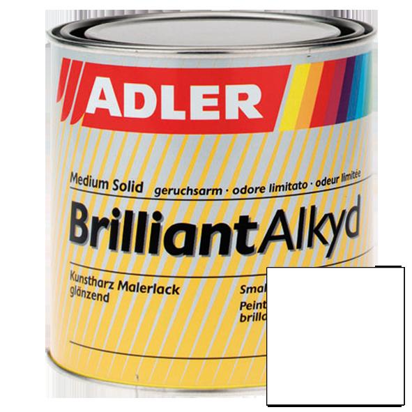 Glossy synthetic resin topcoat, White, ADLER Brilliantalkyd
