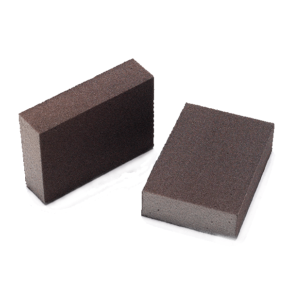 Abrasive sponge black, grit size 100-220, hand pad