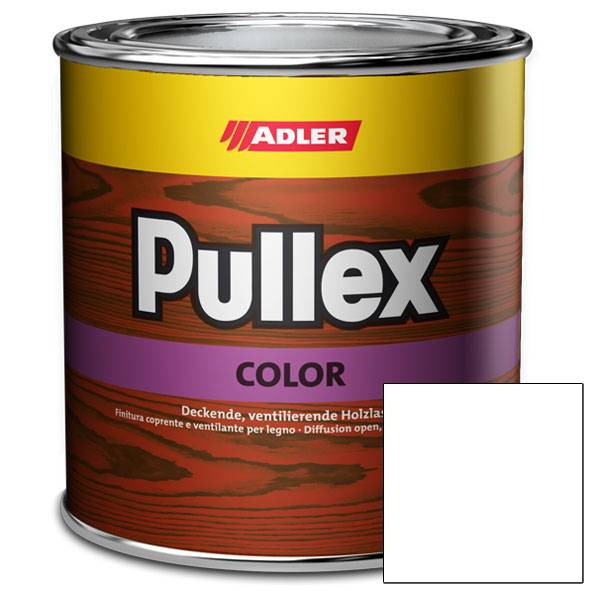 Pullex Color Weiß - bílá barva na dřevo